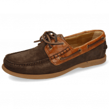 Boat shoes Jason 1 Suede Pattini Dark Brown Venice Turtle Tan