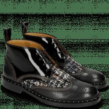 Ankle boots Sally 30 Black Fermont Gunmetal Textile Duke Spark