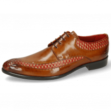 Derby shoes Toni 36 Woven Sand Ruby Cognac