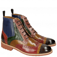 Ankle boots Amelie 17 Mogano Ocra Ruby Fango Light Purple