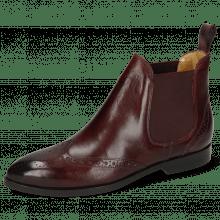 Ankle boots Jessy 4 Burgundy Elastic Burgundy Lining Nappa