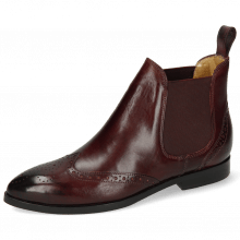 Ankle boots Jessy 4 Burgundy Elastic Burgundy Lining Nappa