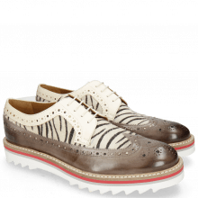 Derby shoes Trevor 10 Vegas Stone Hairon Young Zebra