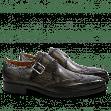 Monks Nicolas 2 Grey Shade & Lines Black HRS