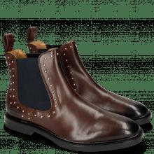 Ankle boots Katrin 3 Mogano Rivets