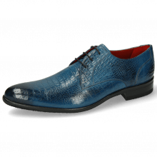 Derby shoes Toni 1 Baby Croco Mid Blue
