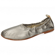 Ballet Pumps Iris 2 Nappa Metallic Perfo Gunmetal Super Flex