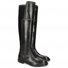 Boots Sally 61 Rio Black Rivets Welt