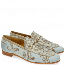 Loafers Scarlett 1 Textile Victoria Silk Trim Gold
