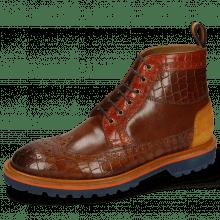 Ankle boots Matthew 9 Crock Mid Brown Winter Orange Suede Pattini