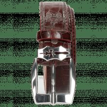 Belts Larry 1 Crock Burgundy Sword Buckle