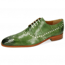 Derby shoes Lance 66 Galap Harris Green Underlay