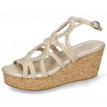 Sandals Hanna 58  Woven Pearl Cork
