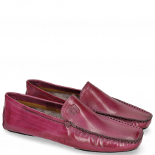 Loafers Home Donna Dark Pink Sock Fur