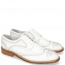 Derby shoes Sandy 1 Milled White Rivets
