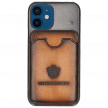 iPhone case Twelve Mini Vegas Oxygen Wallet Tan
