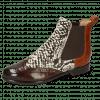 Ankle boots Selina 29 Imola Mid Brown Hairon Snake Black White