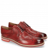 Derby shoes Clint 19 Perfo Ruby Lining Rich Tan