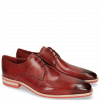 Derby shoes Lance 24 Red Lasercut Crown