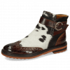 Ankle boots Amelie 67 Crock Mid Brown Hairon Jersey Textile Prisma Bronze