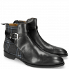 Ankle boots Kane 1 Black Textile Charcoal Strap Vegas Sword Buckle