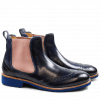 Ankle boots Amelie 5 Crust Mid Blue Elastic RoseRook D Blue