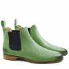 Ankle boots Susan 10 Salerno Perfo Mint Green Elastic Navy LS