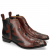 Ankle boots Marlin 7 Python Bordo Plum Petrol
