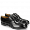 Derby shoes Amelie 3 Black Lining Rich Tan