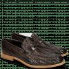 Loafers Eddy 44 Haring Bone Weave Dark Brown Lining Nappa
