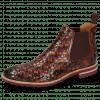 Ankle boots Brad 6 Woven Multi Elastic Burgundy