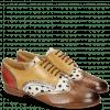 Derby shoes Sally 15 Vegas Nougat Sand Nappa Aztek Gold Silver Hairon Wildcat