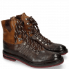 Ankle boots Amelie 74 Python Brown Milano Sand