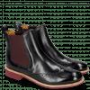 Ankle boots Amelie 5 Navy Elastic Burgundy