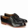 Derby shoes Amelie 14 Perfo Black Lining Rich Tan Collar