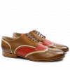 Derby shoes Sally 15 Salerno Dark Tan Cappu Salerno Perfo Coral LS