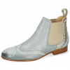 Ankle boots Sally 45 Imola Clear Water Perfo Talca Platino
