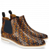 Ankle boots Brad 6 Woven Multi Elastic Navy Lining Rich Tan