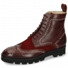 Ankle boots Sally 120 Mulberry Suede Wine