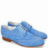 Derby shoes Sally 53 Parma Suede Green Blue