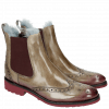 Ankle boots Amelie 5 Marble Shade Burgundy Fur Lining Turquoise Rook D Burgundy