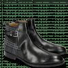 Ankle boots Kane 1 Black Textile Charcoal Strap Black Sword Buckle