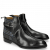 Ankle boots Kane 1 Black Textile Charcoal Strap Black Sword Buckle