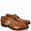 Derby shoes Eddy 25R Wood Strap Beige Embrodery
