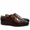 Oxford shoes Nicolas 1 Crust Tan Shade & Lines Dark Brown HRS