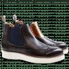 Ankle boots Lucy 15 Crust Dark Brown Laminato Bronze Elastic Navy XL Ginger White