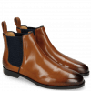 Ankle boots Susan 70 Wood Binding Nylon Navy Elastic Honey Comb