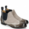 Ankle boots Sally 19 Stone Nappa Aztek Navy Suede Oily Silver
