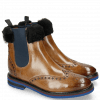 Ankle boots Amelie 63 Grigio Fur Nappa Navy