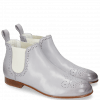 Ankle boots Sally 16 Salerno Lavender Elastic Off White